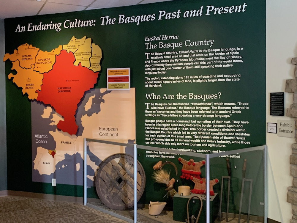 Inside the Basque Museum in Boise.