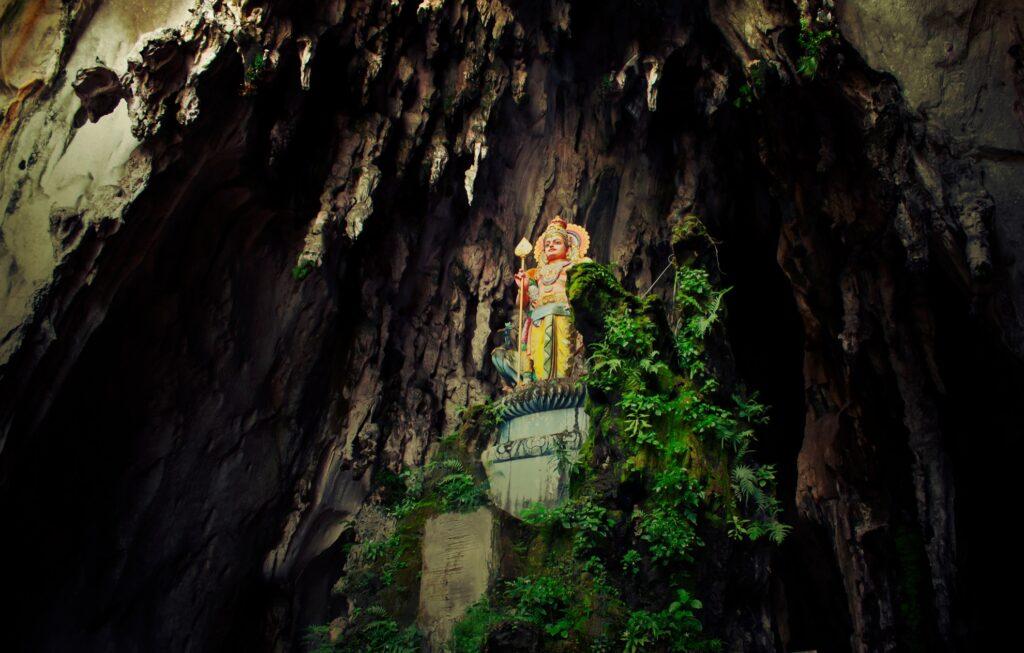 Inside the Batu Caves.