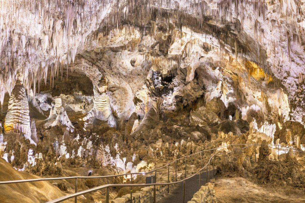 Inside the Big Room at Carlsbad Caverns National Park.