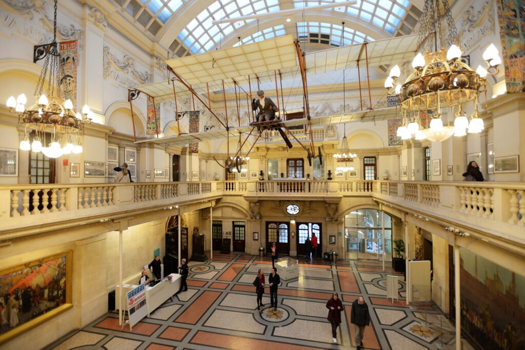 Inside the Bristol Museum and Art Gallery.