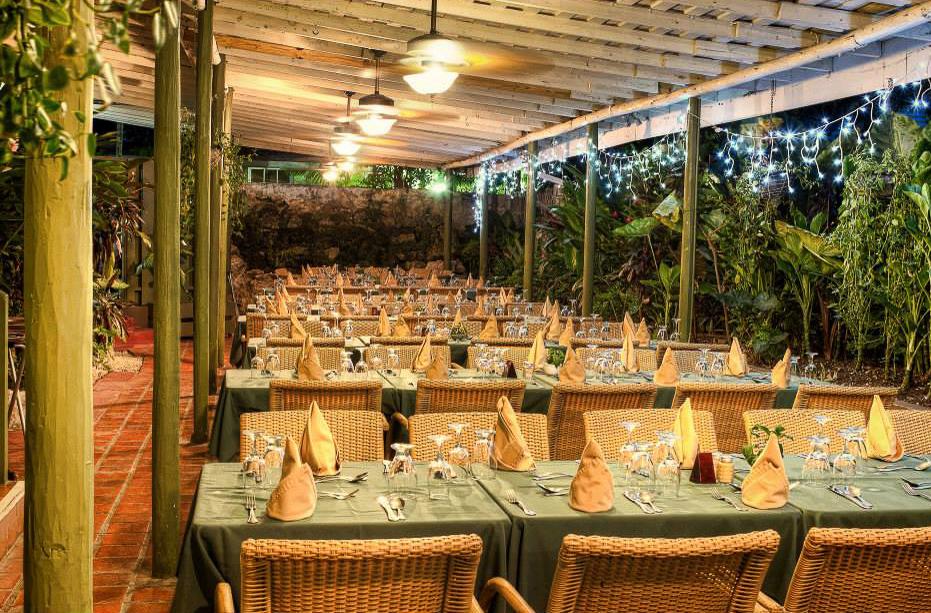 Inside the Brown Sugar Restaurant in Barbados.