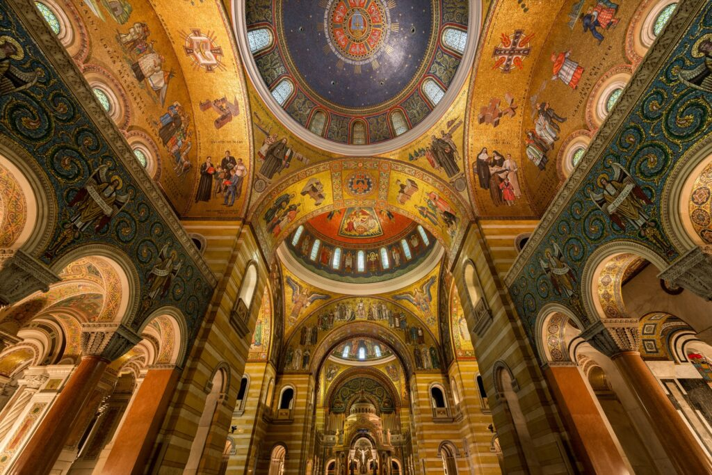 Inside the Cathedral Basilica Of Saint Louis.