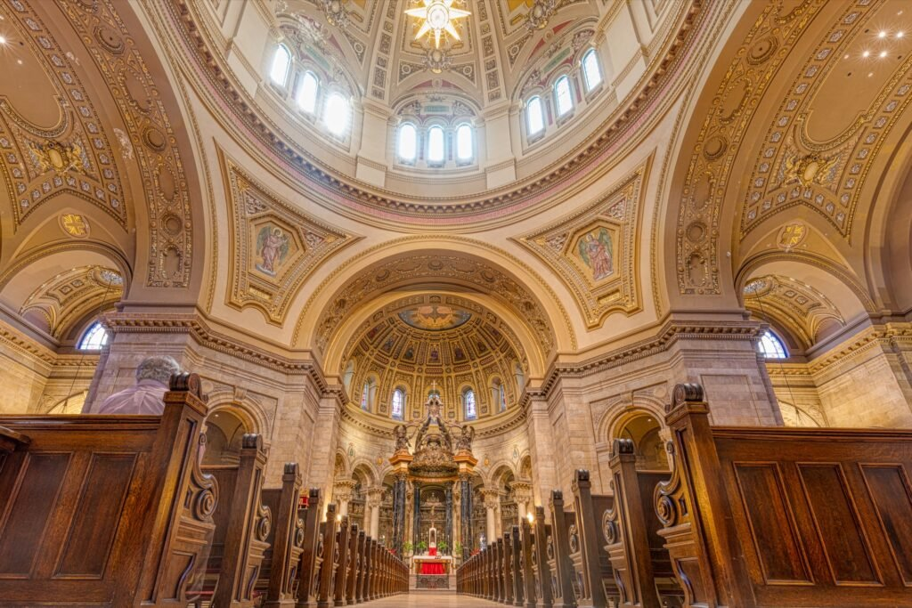 Inside the Cathedral Of Saint Paul.