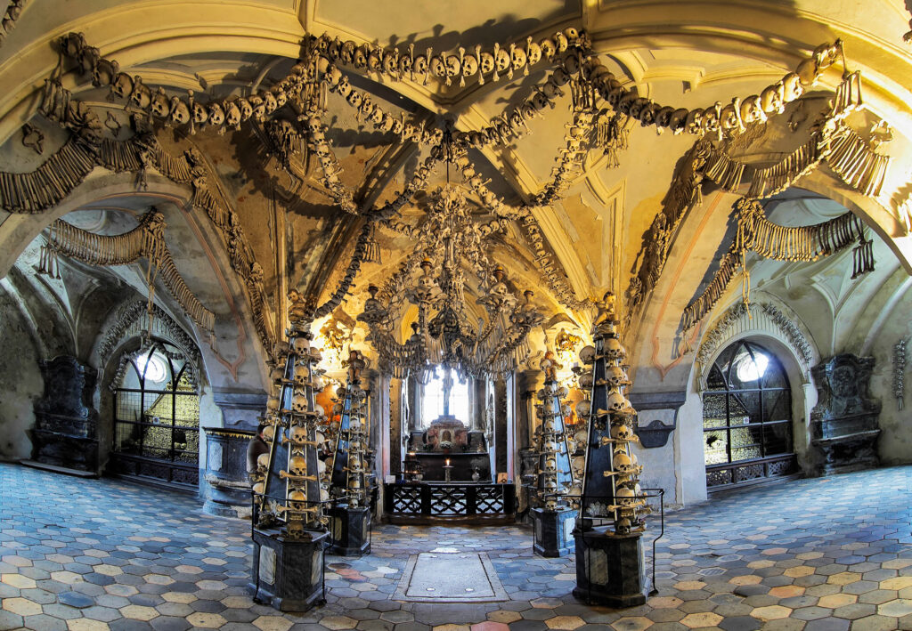 Inside the Church of Bones.