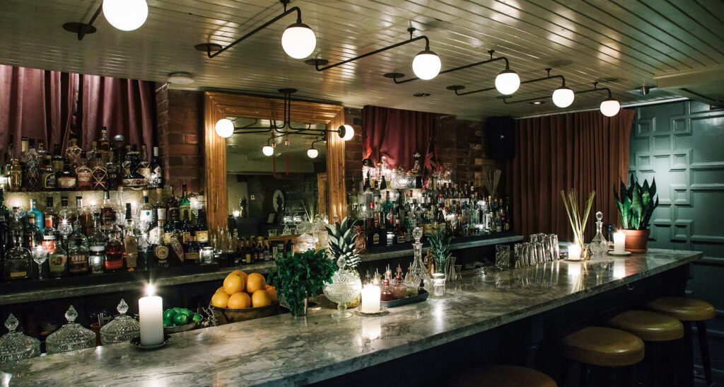 Inside The Cloak Bar in Toronto.