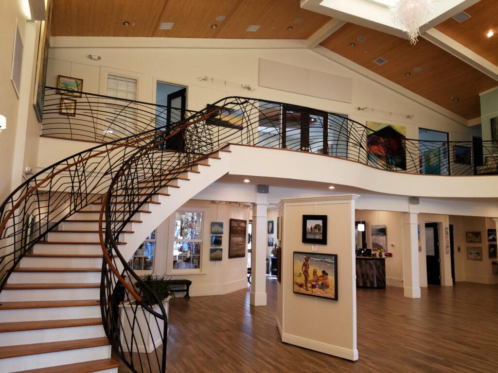 Inside the Coastal Arts Center.