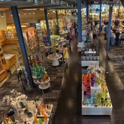 Inside the Corning Museum of Glass in New York.