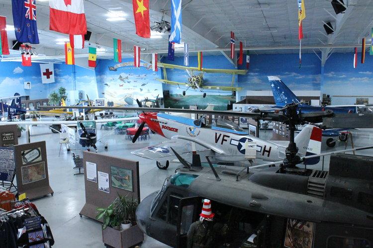 Inside the Fargo Air Museum in Fargo, North Dakota.