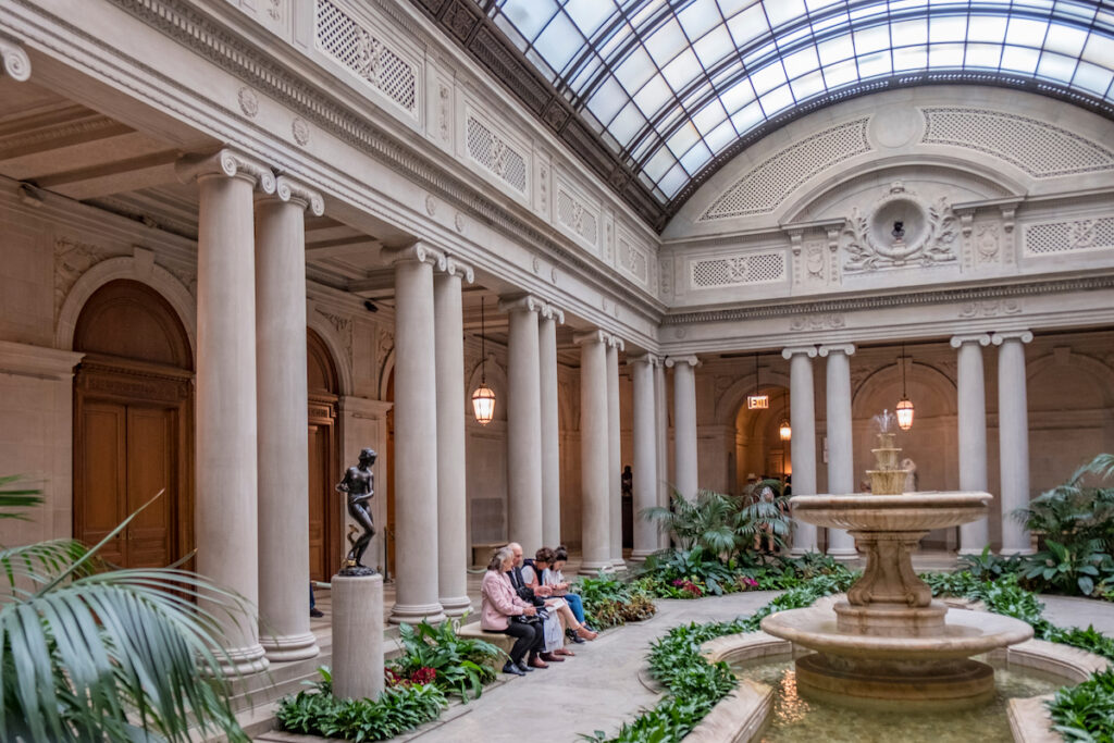 Inside the Frick Collection in New York City.