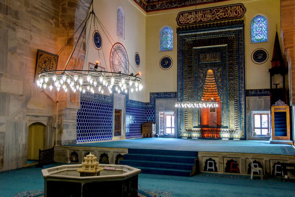 Inside the Green Mosque in Bursa, Turkey.