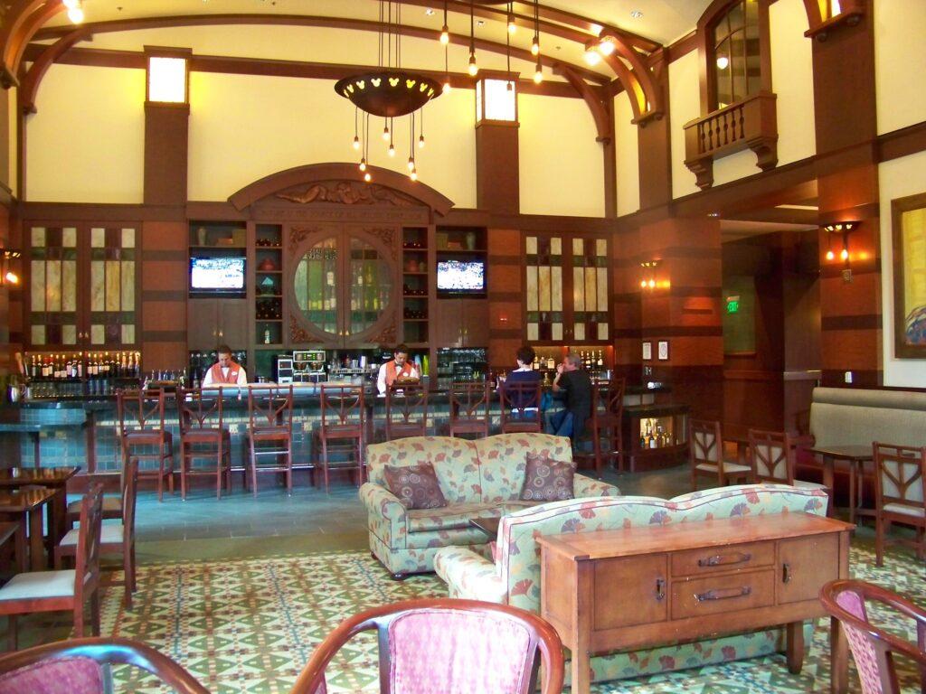 Inside the Hearthstone Lounge.