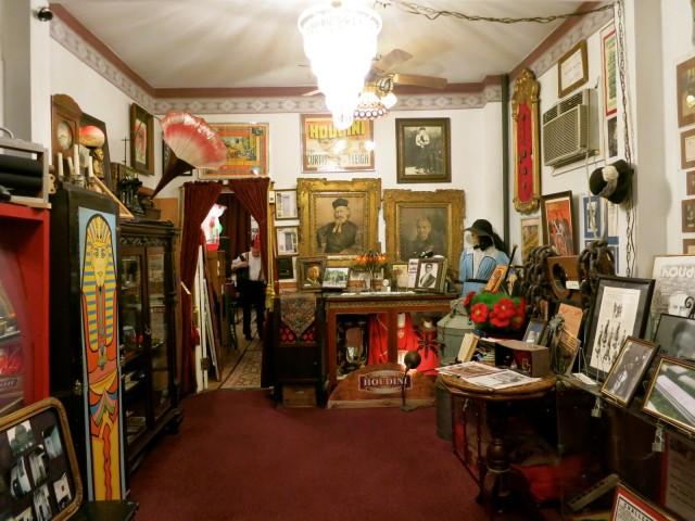 Inside the Houdini Museum.