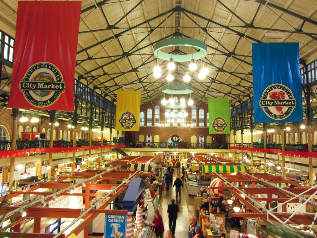 Inside the Indianapolis City Market.