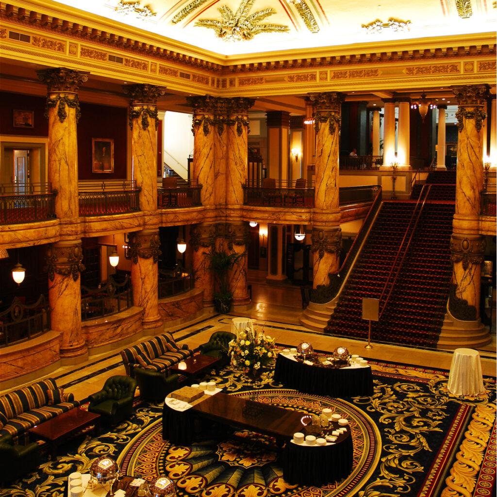 Inside the Jefferson Hotel in Richmond, Virginia.