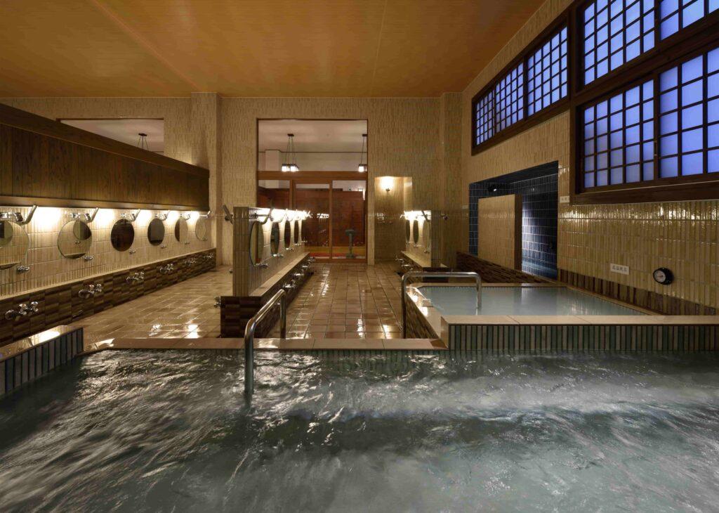 Inside the Mannen-yu osen in Tokyo.