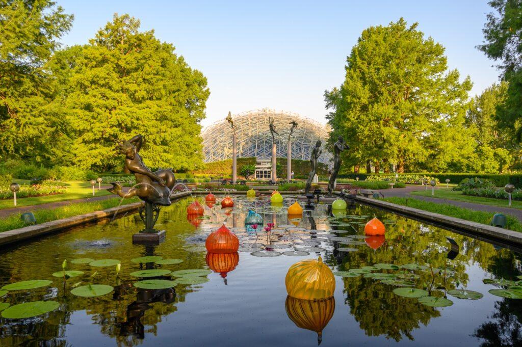 Inside the Missouri Botanical Garden.