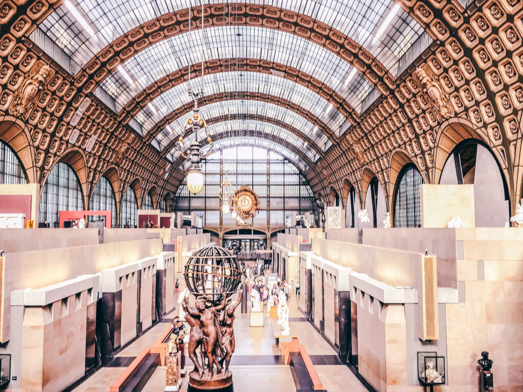 Inside the Musee d'Orsay in Paris.