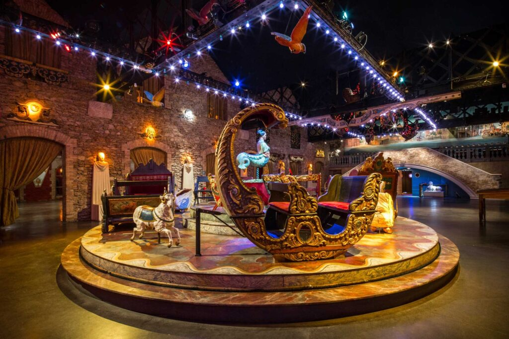 Inside the Musee des Arts Forains.