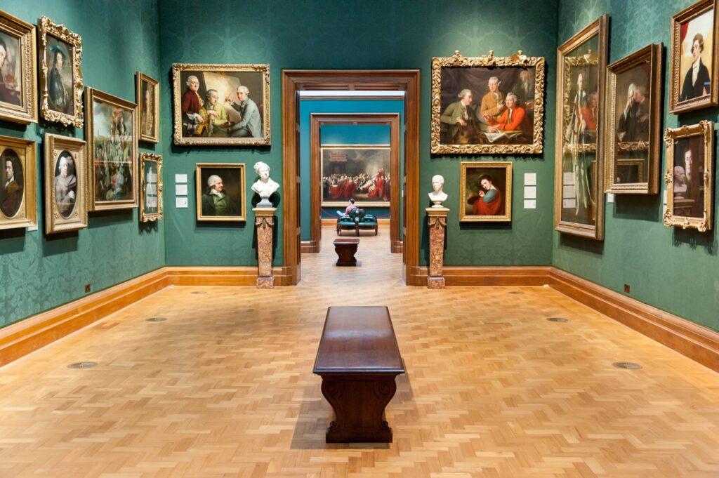 Inside the National Portrait Gallery in London.