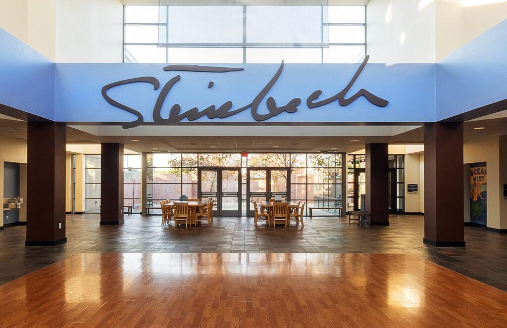 Inside the National Steinbeck Center.