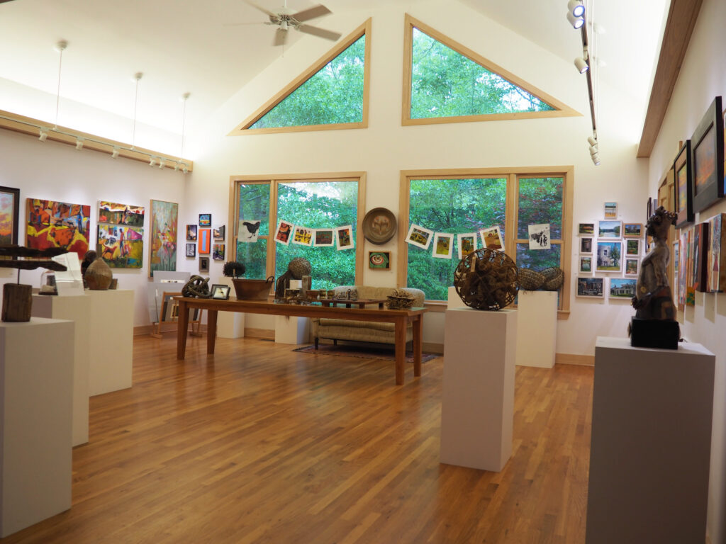 Inside the Oxford Treehouse Gallery.
