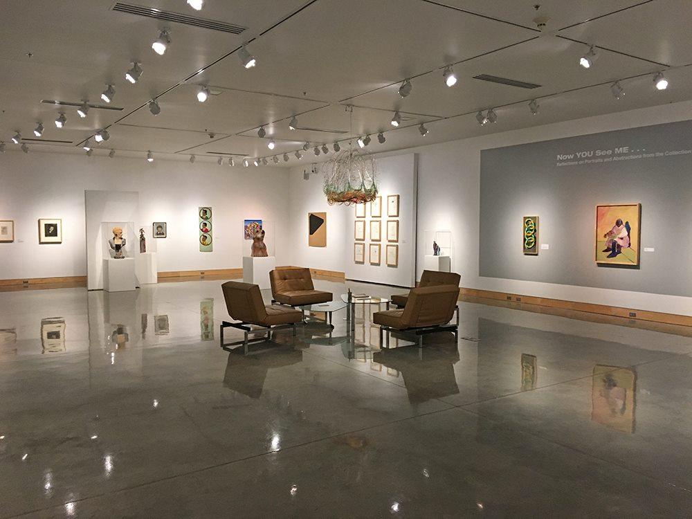Inside the Plains Art Museum in Fargo, North Dakota.