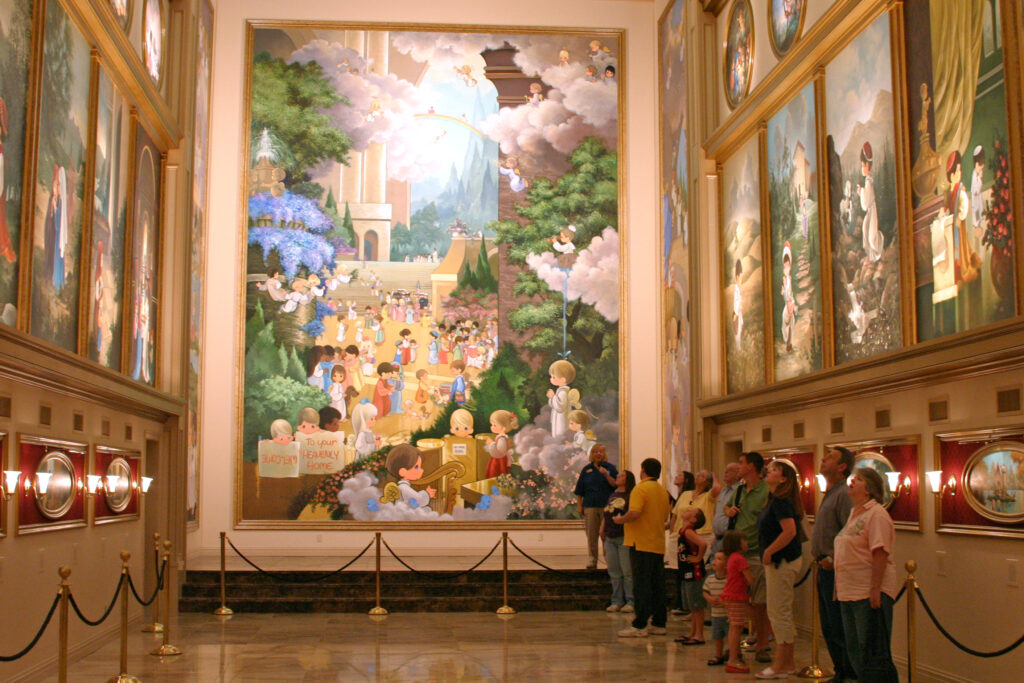 Inside the Precious Moments Chapel.