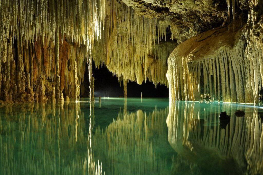 Inside the Rio Secreto cave.