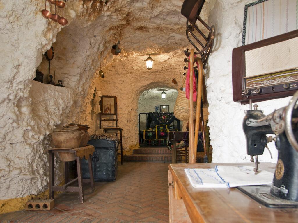 Inside the Sacromonte Cave Museum in Granada.
