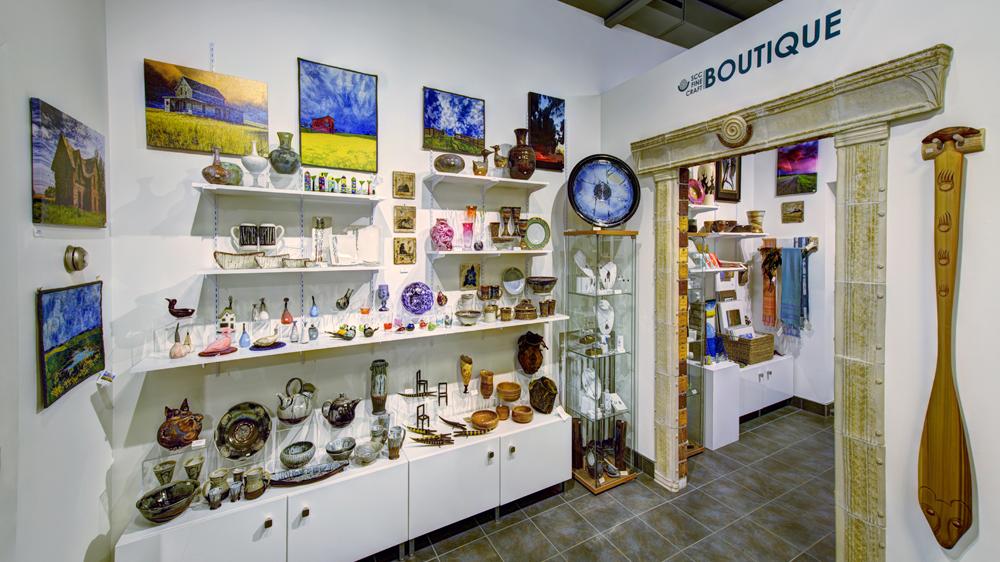 Inside the SCC Fine Craft Boutique.