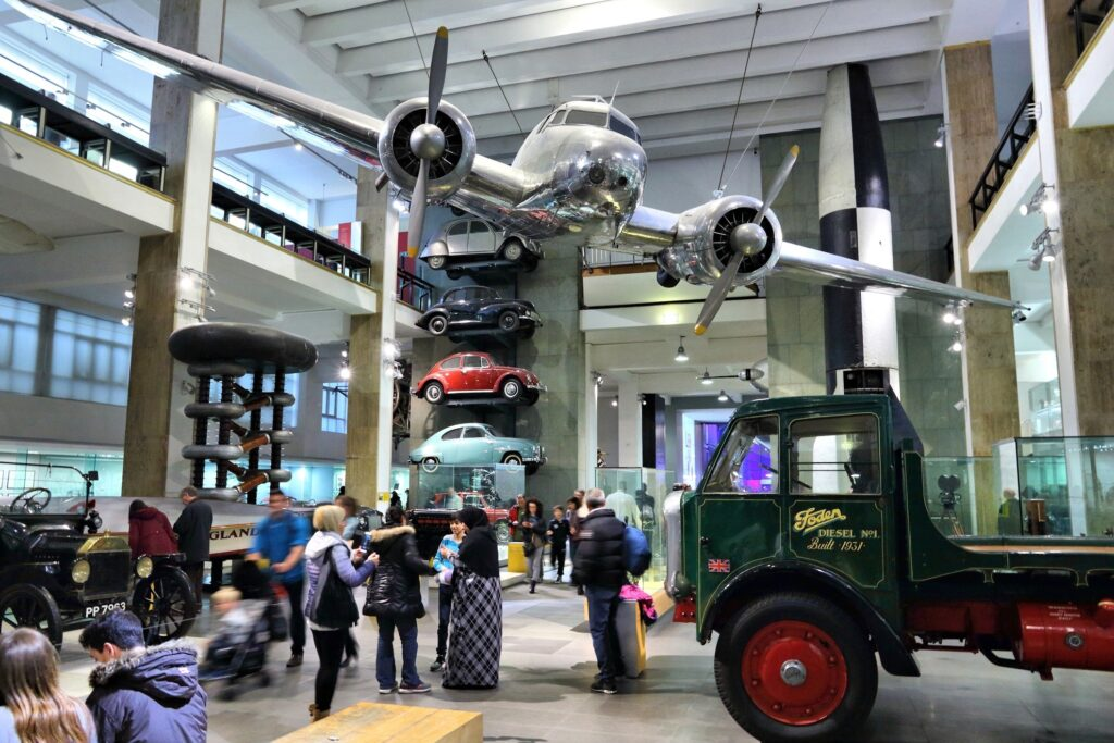 Inside the Science Museum in London.