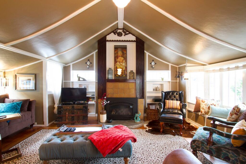 Inside the Steinbeck Cottage.