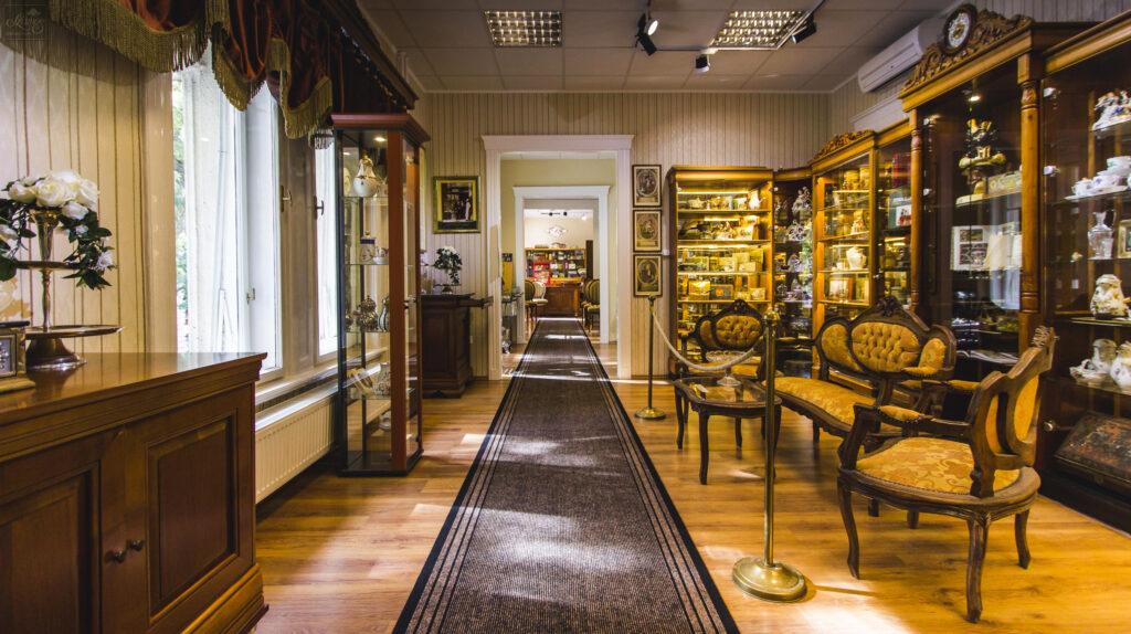 Inside the Szamos Chocolate Museum.