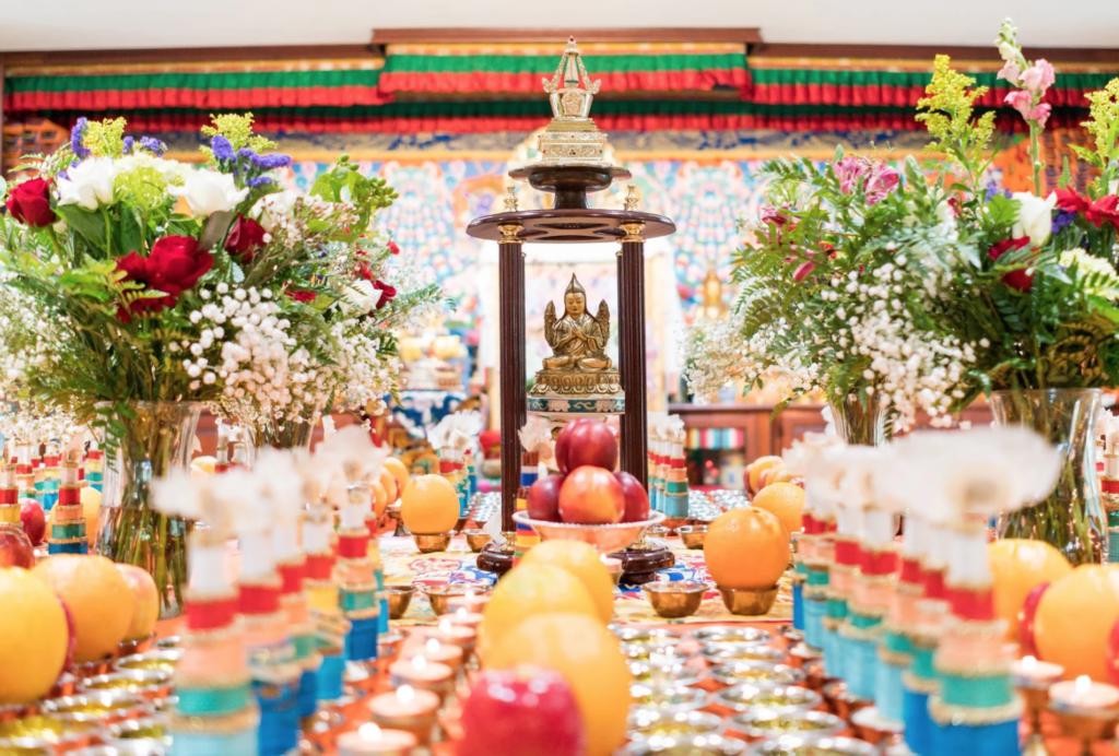 Inside the Tibetan Mongolian Buddhist Cultural Center.