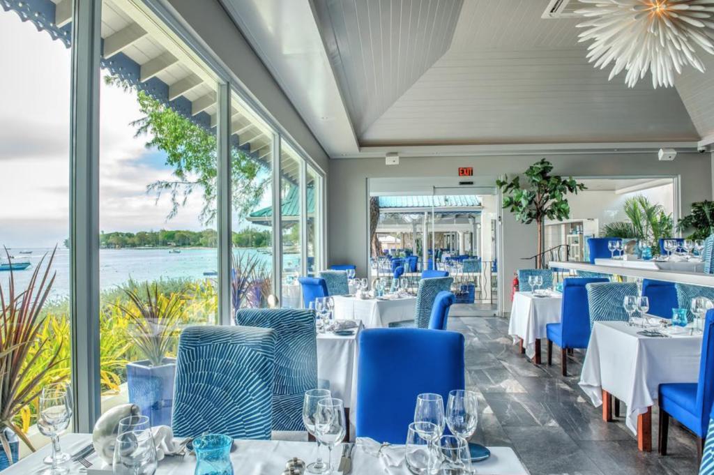 Inside The Tides restaurant in Barbados.