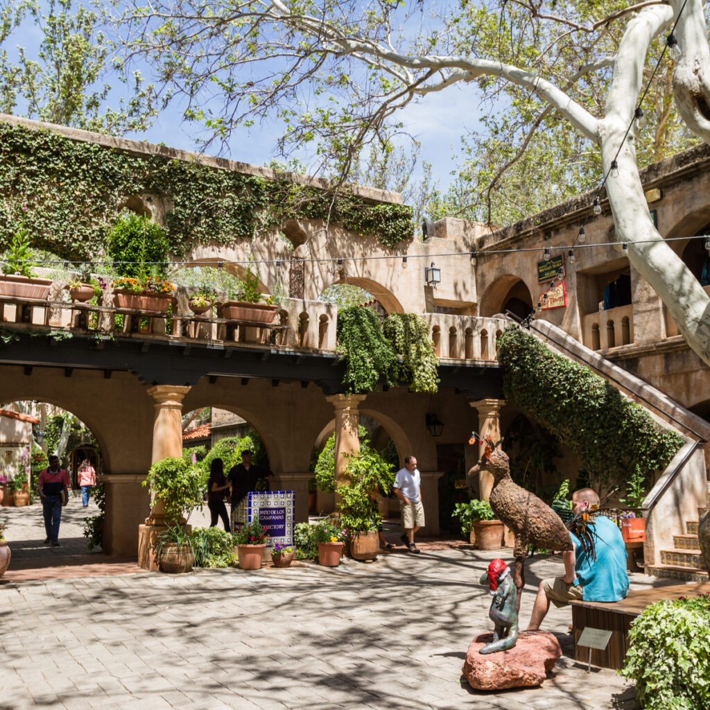 Inside the Tlaquepaque Arts and Crafts Village.