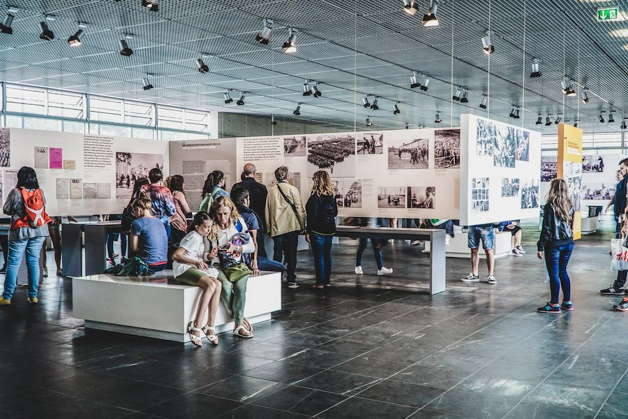 Inside the Topography Of Terror Museum in Berlin.