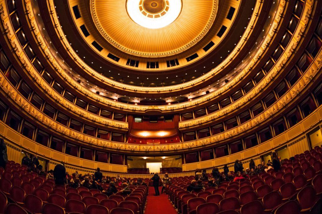 Inside the Vienna State Opera.