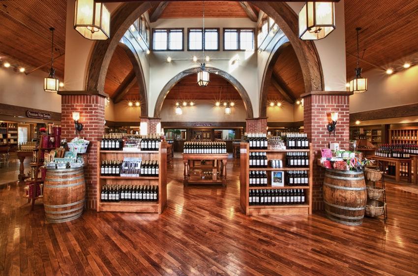 Inside the wine shop at Biltmore.