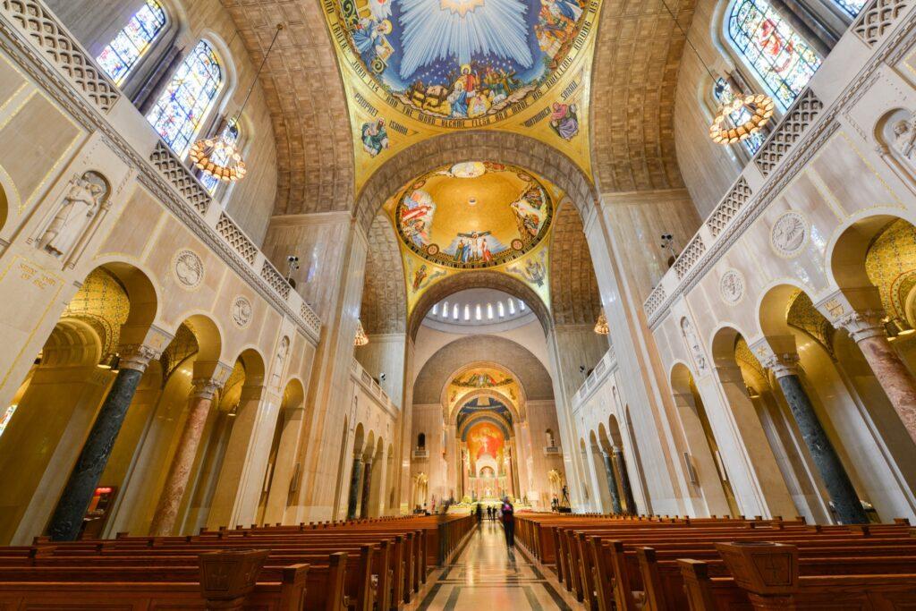 Inside Washington National Cathedral.