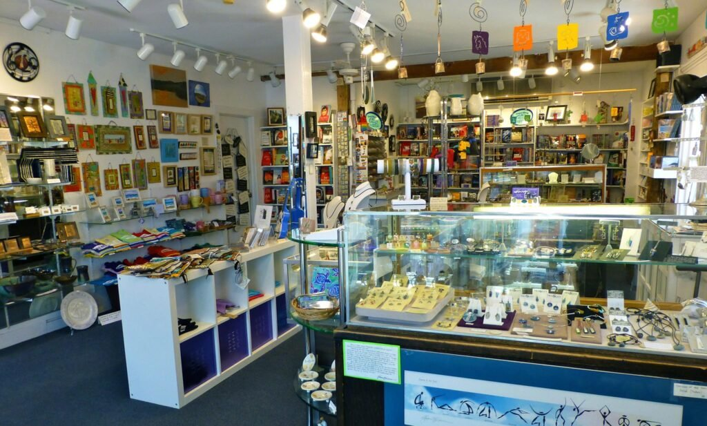 Inside Womencrafts in Provincetown.