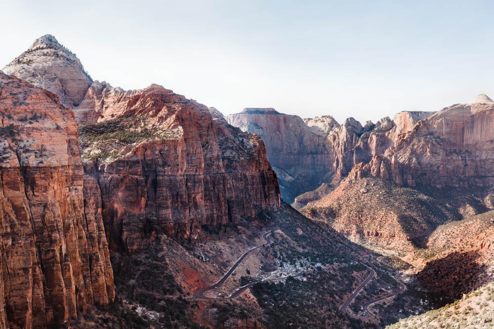 Inside Zion National Park.