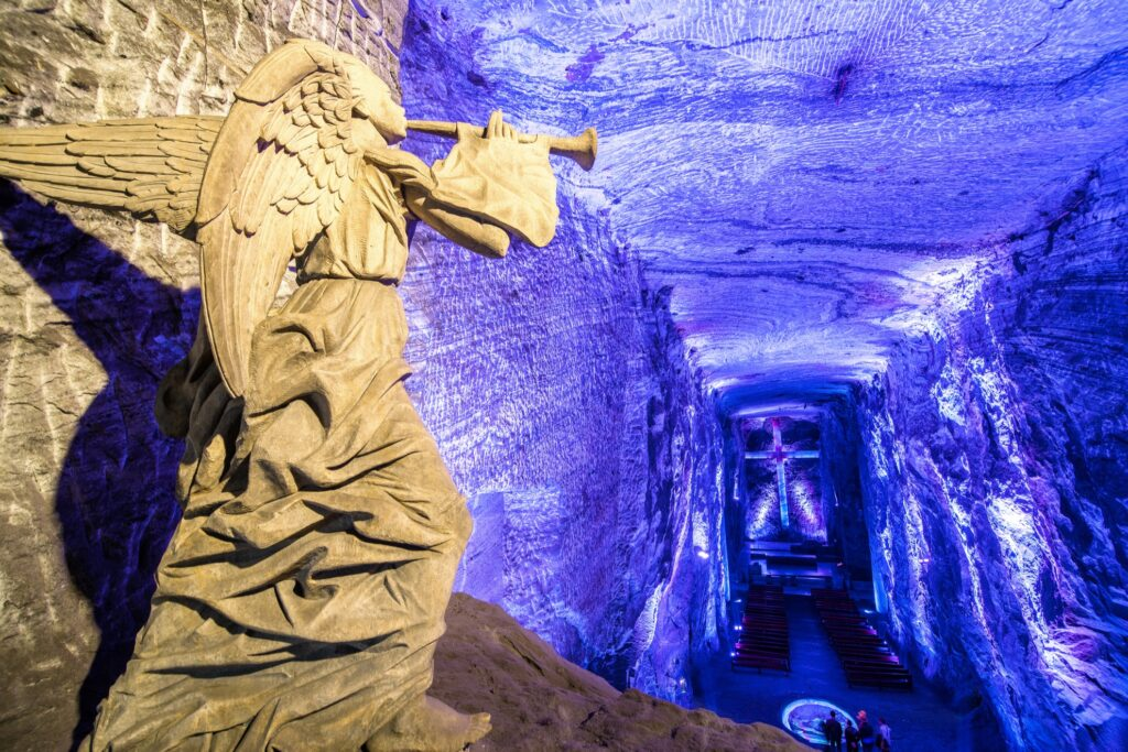 Inside Zipaquira's Salt Cathedral.