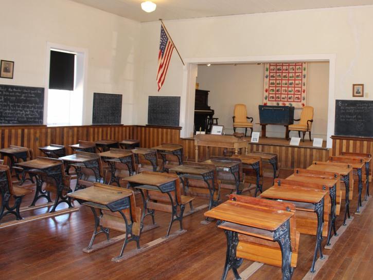 Interior 1885 Schoolhouse at Tubac Presidio State Historic Park, Arizona