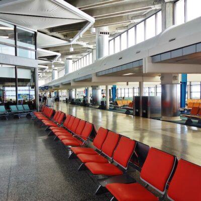 Interior of Grantley Adams International Airport.