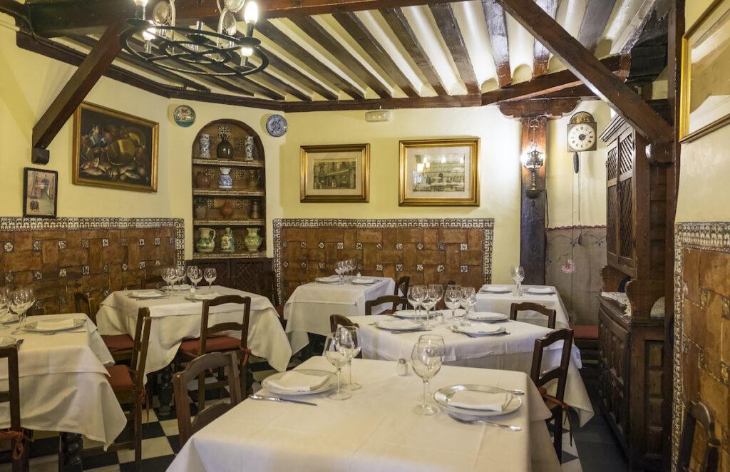 Interior of Restaurante Botin in Madrid.