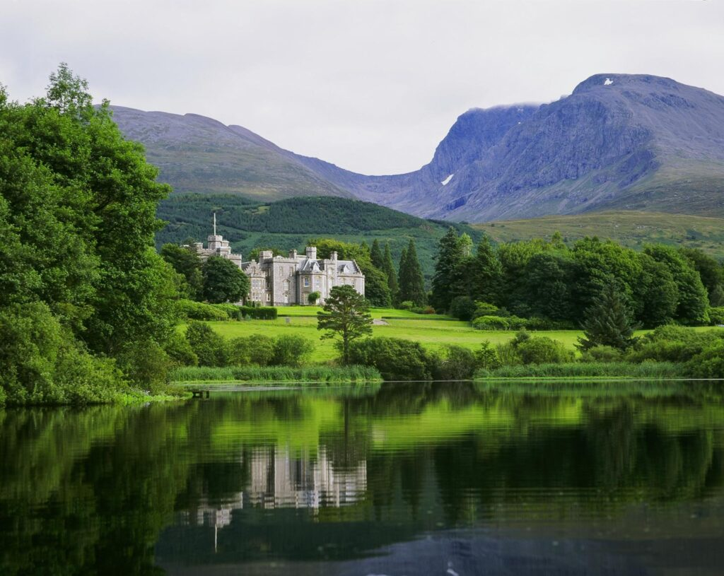 Inverlochy Castle in the Scottish Highlands.