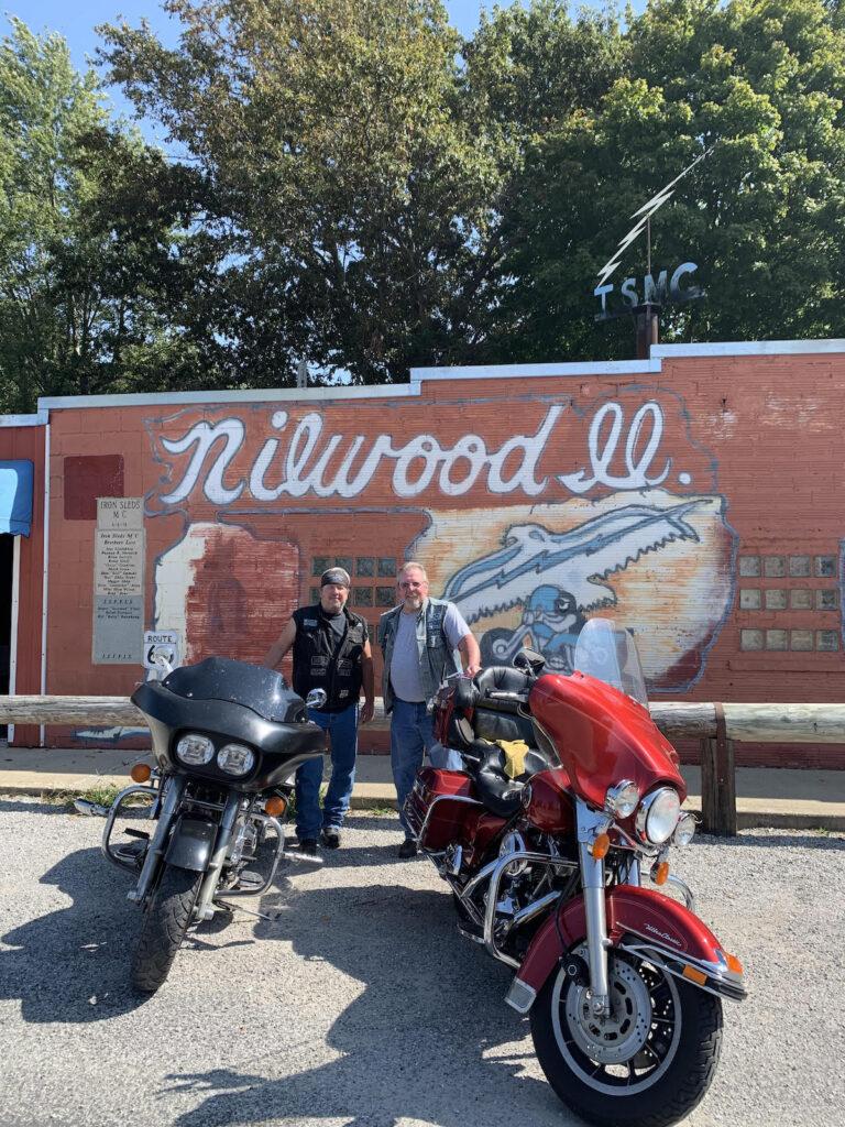 Iron Sleds MC in Nilwood, Illinois.