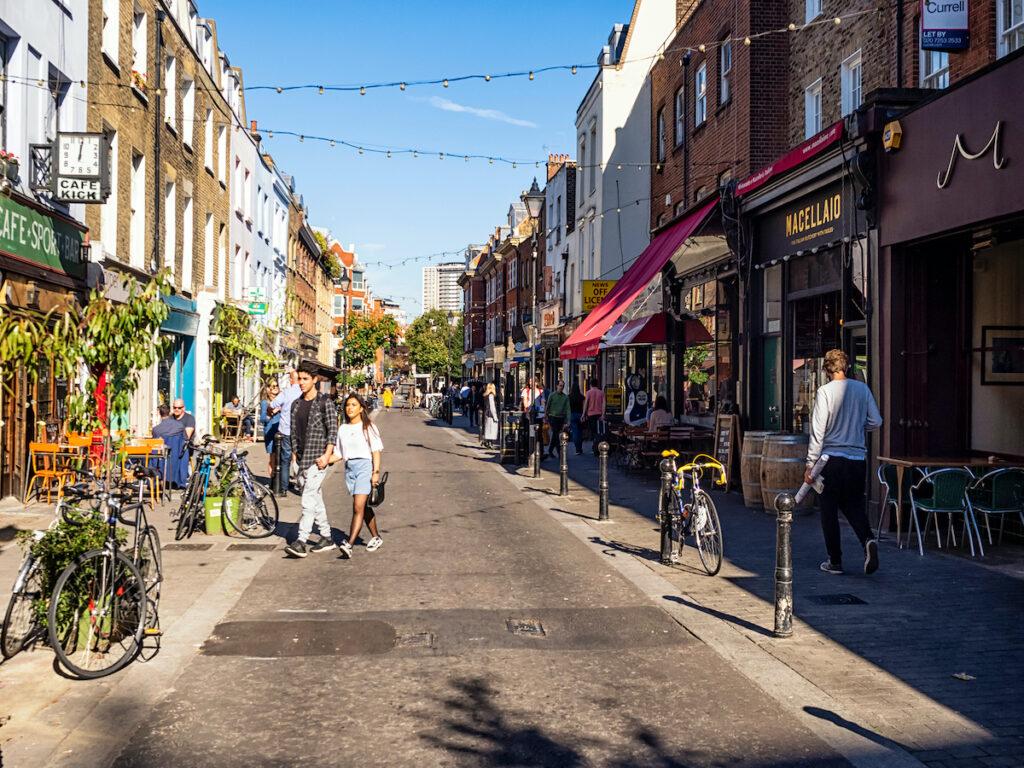 Islington, a neighborhood in London.