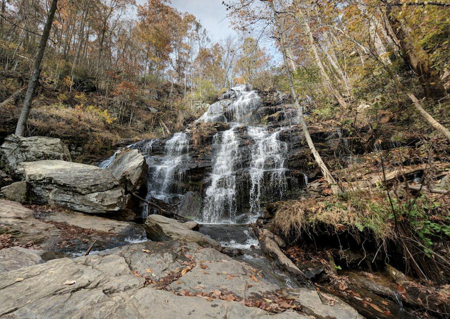 Issaqueena Falls along the Blue Ridge Railroad Historical Trail.